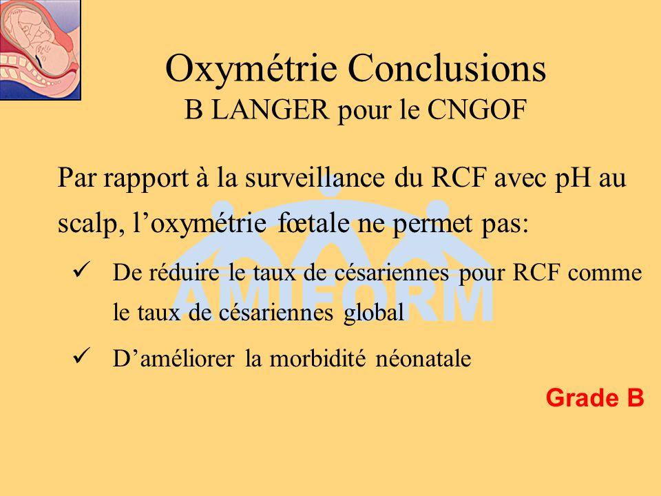 Oxymétrie Conclusions B LANGER pour le CNGOF