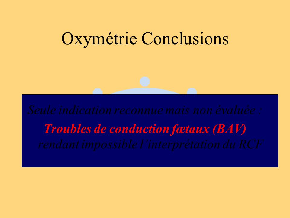 Oxymétrie Conclusions