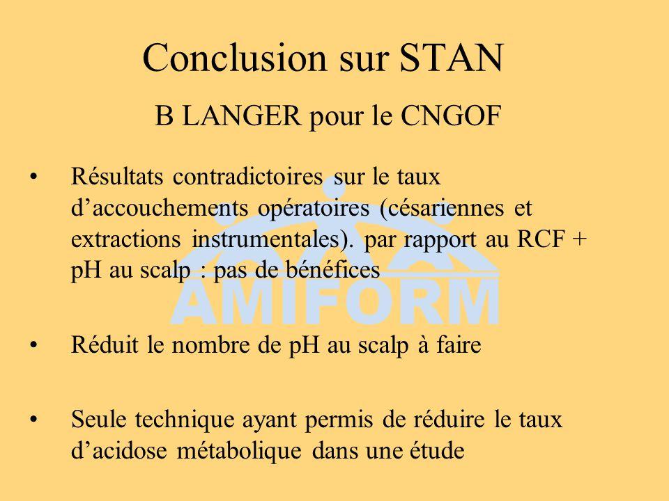Conclusion sur STAN B LANGER pour le CNGOF