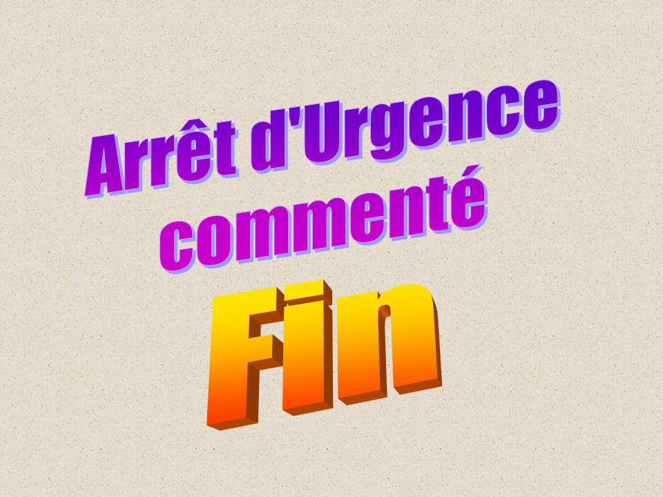 Arrêt d Urgence commenté Fin
