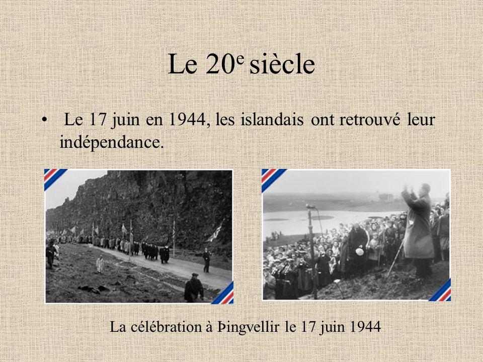 La célébration à Þingvellir le 17 juin 1944