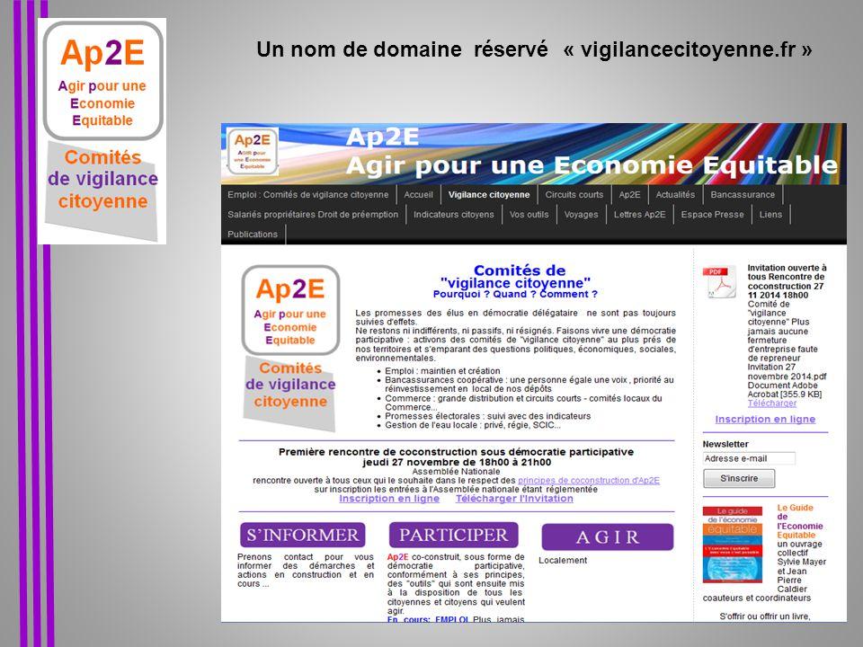 Un nom de domaine réservé « vigilancecitoyenne.fr »