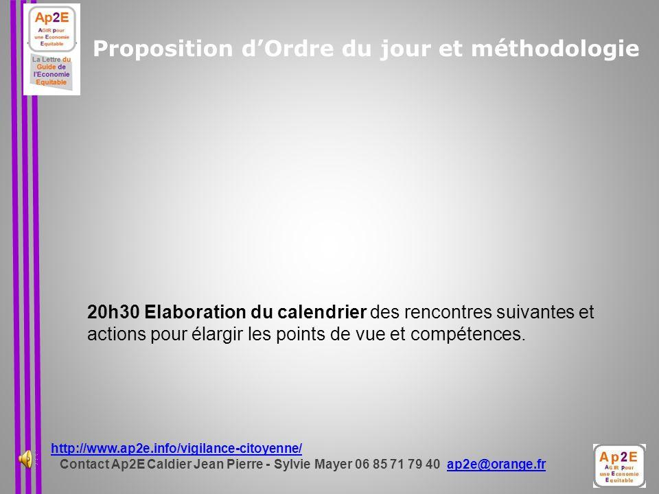 Proposition d'Ordre du jour et méthodologie