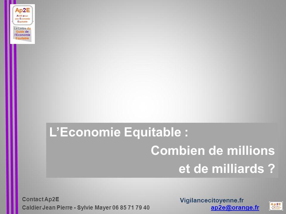L'Economie Equitable : Combien de millions et de milliards
