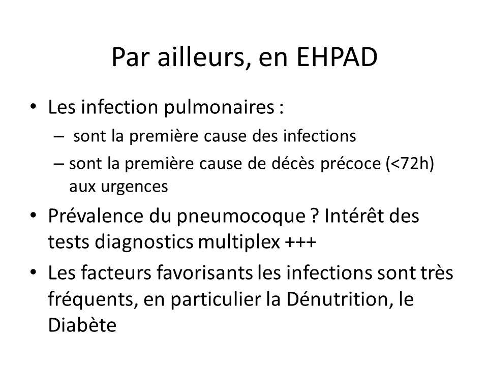 Par ailleurs, en EHPAD Les infection pulmonaires :