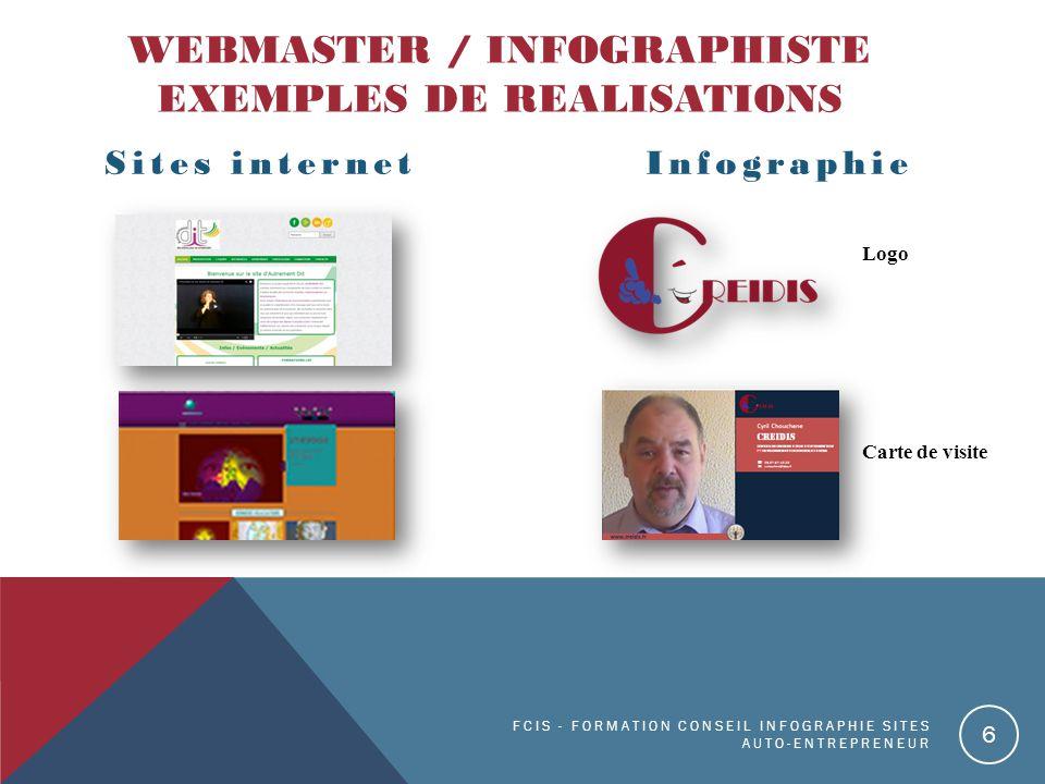 Webmaster / infographiste EXEMPLES DE REALISATIONS