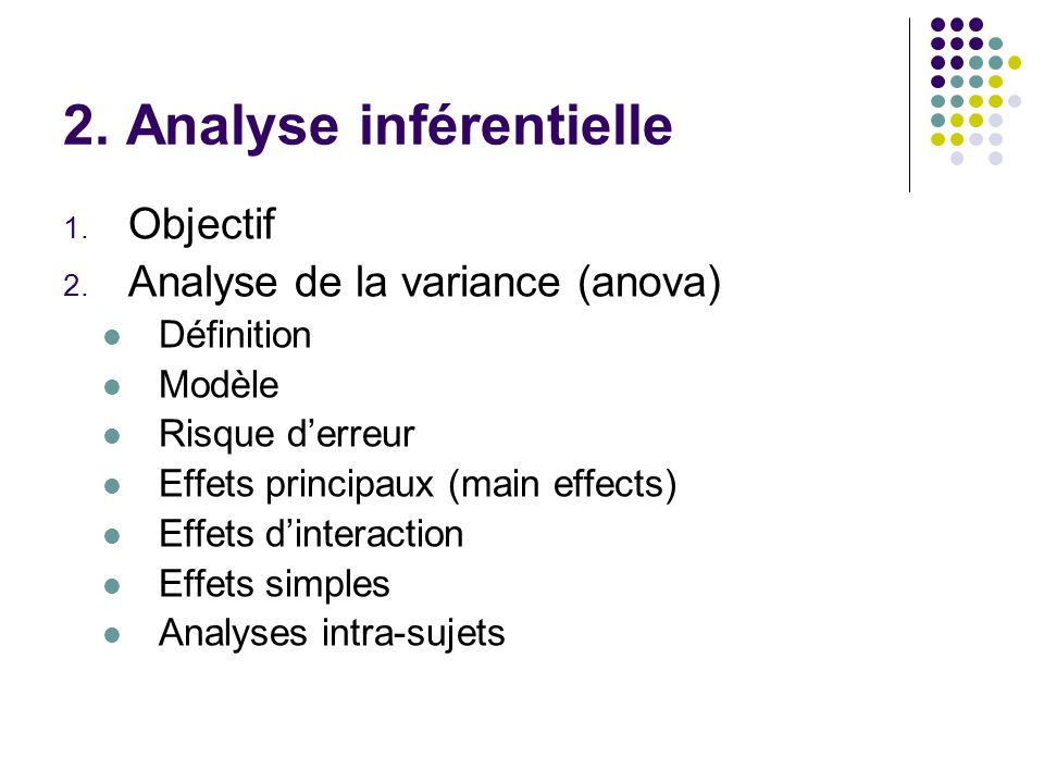 2. Analyse inférentielle