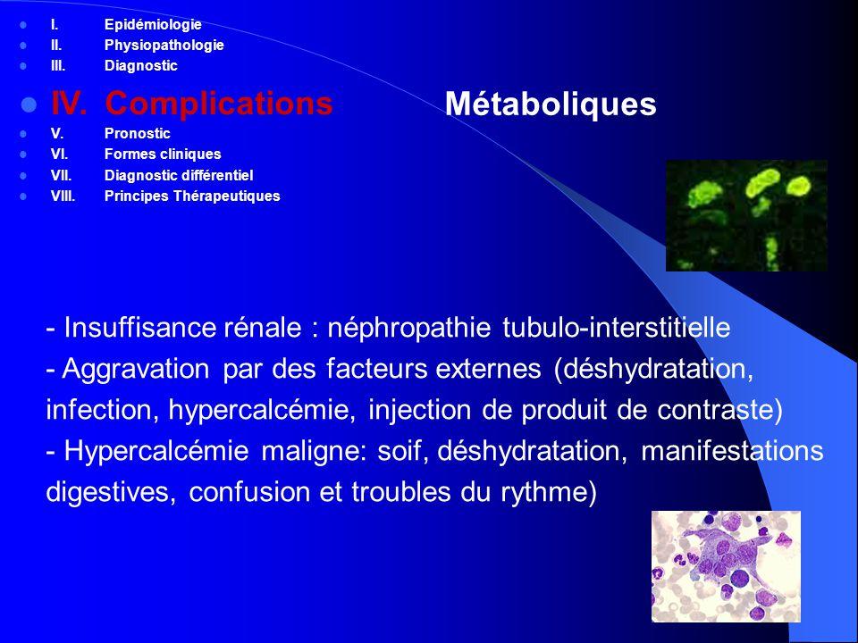 IV. Complications Métaboliques