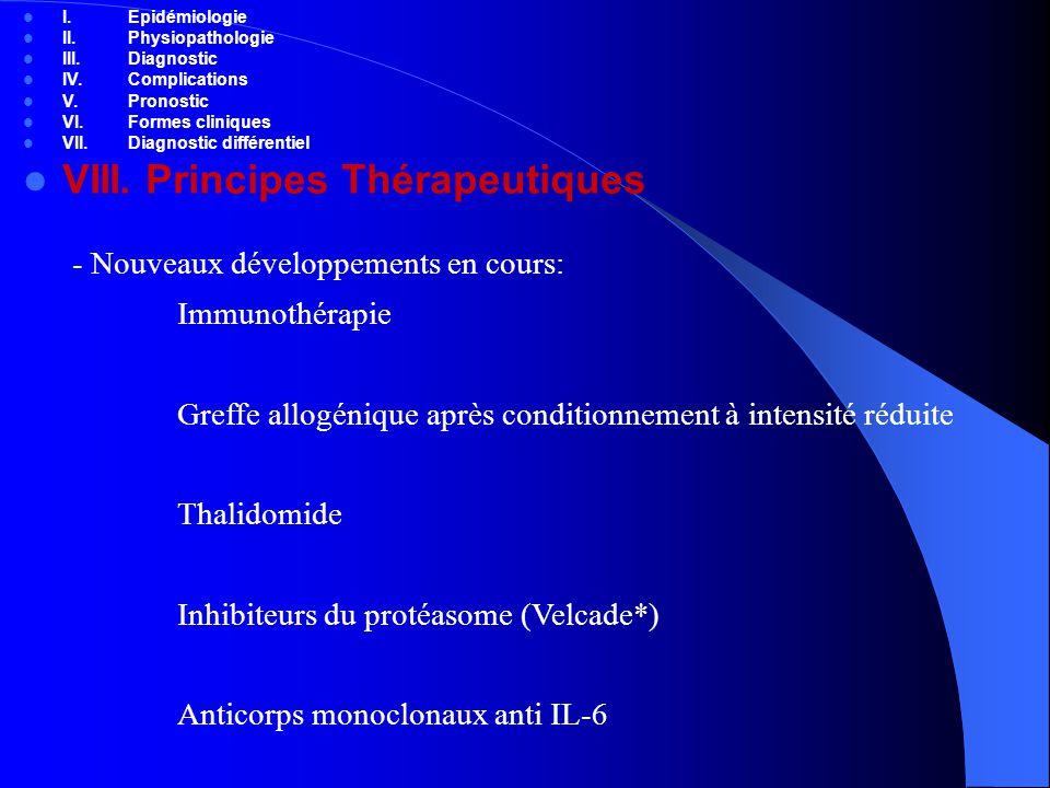 VIII. Principes Thérapeutiques