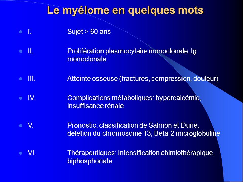 Le myélome en quelques mots