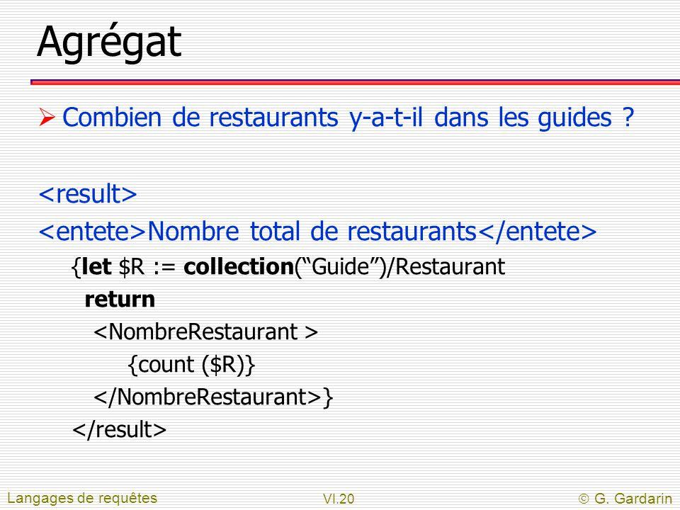Agrégat Combien de restaurants y-a-t-il dans les guides