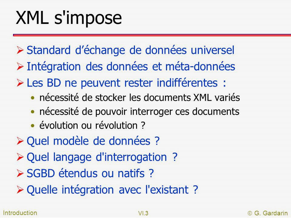 XML s impose Standard d'échange de données universel