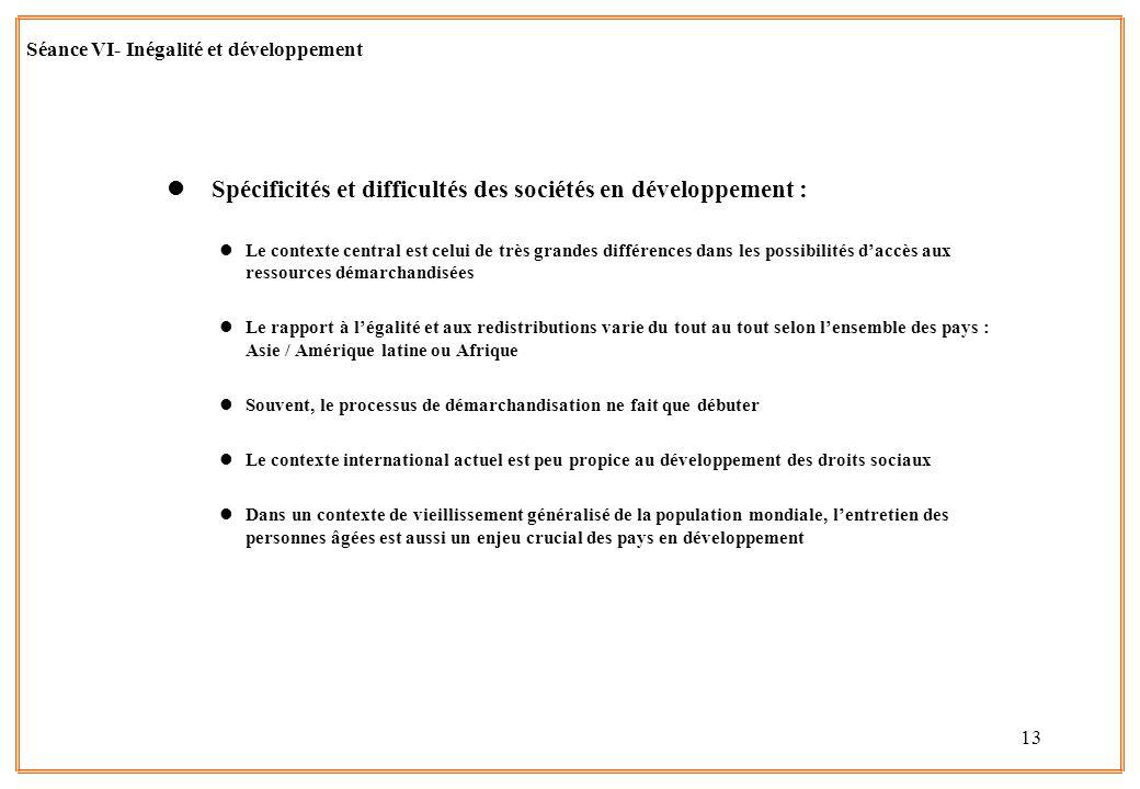Spécificités et difficultés des sociétés en développement :