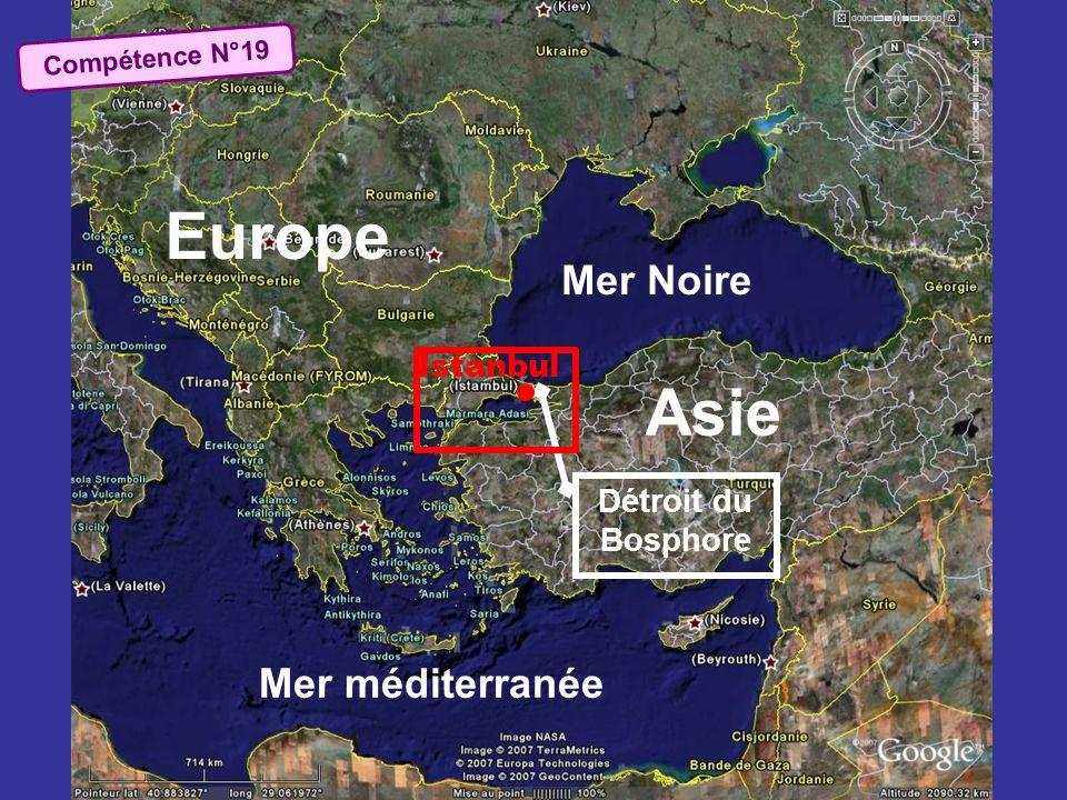 Europe Asie Mer Noire Mer méditerranée Istanbul Détroit du Bosphore