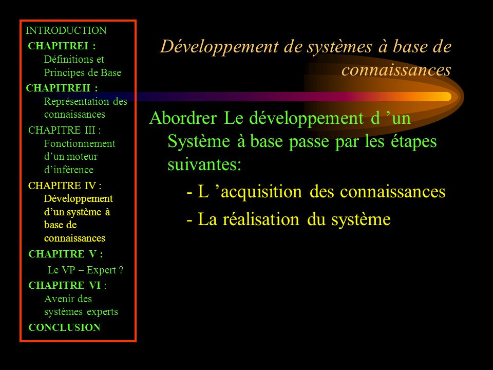 Développement de systèmes à base de connaissances