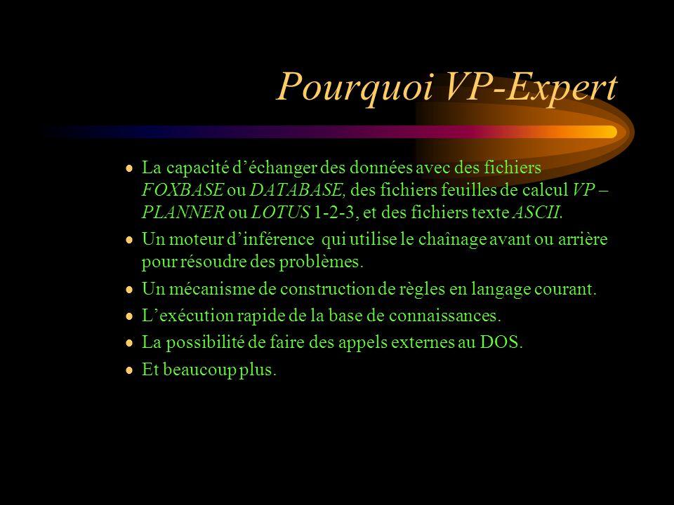 Pourquoi VP-Expert