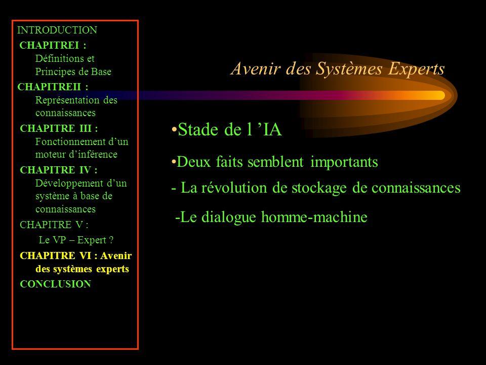 Avenir des Systèmes Experts