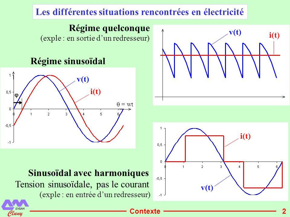 Les différentes situations rencontrées en électricité