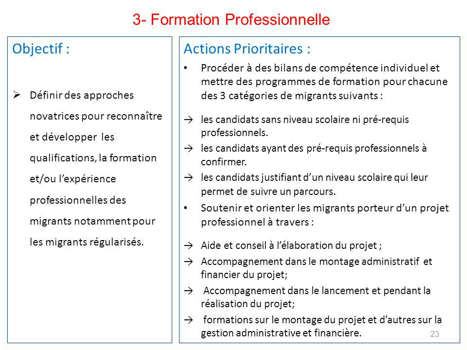 3- Formation Professionnelle