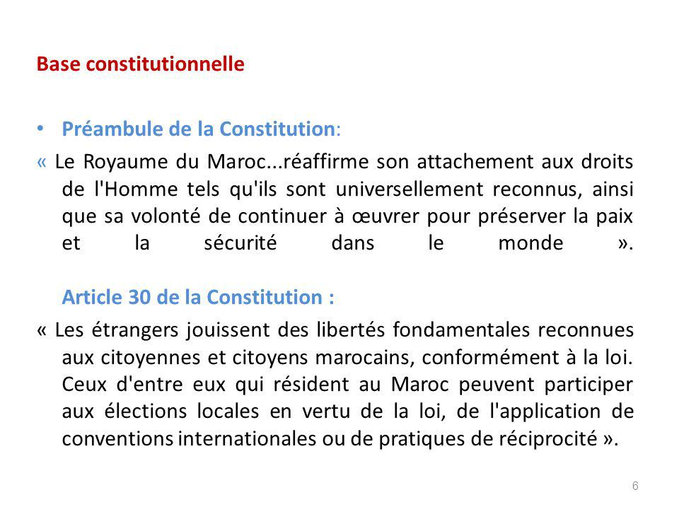 Base constitutionnelle
