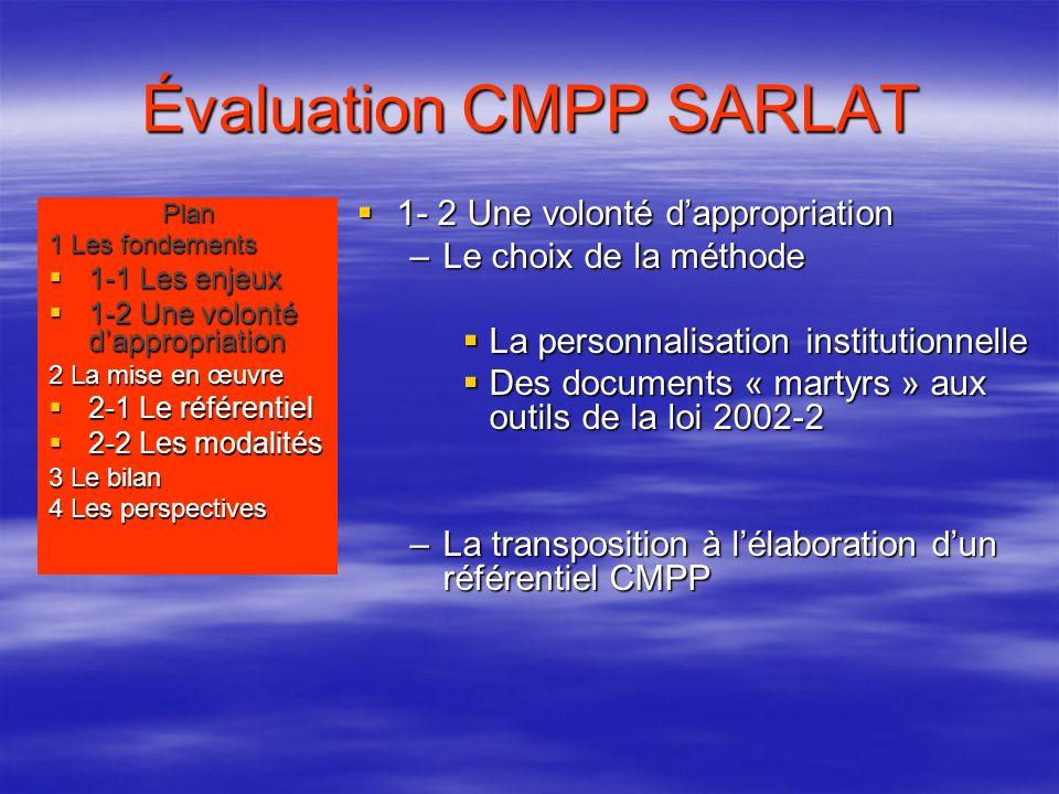 Évaluation CMPP SARLAT