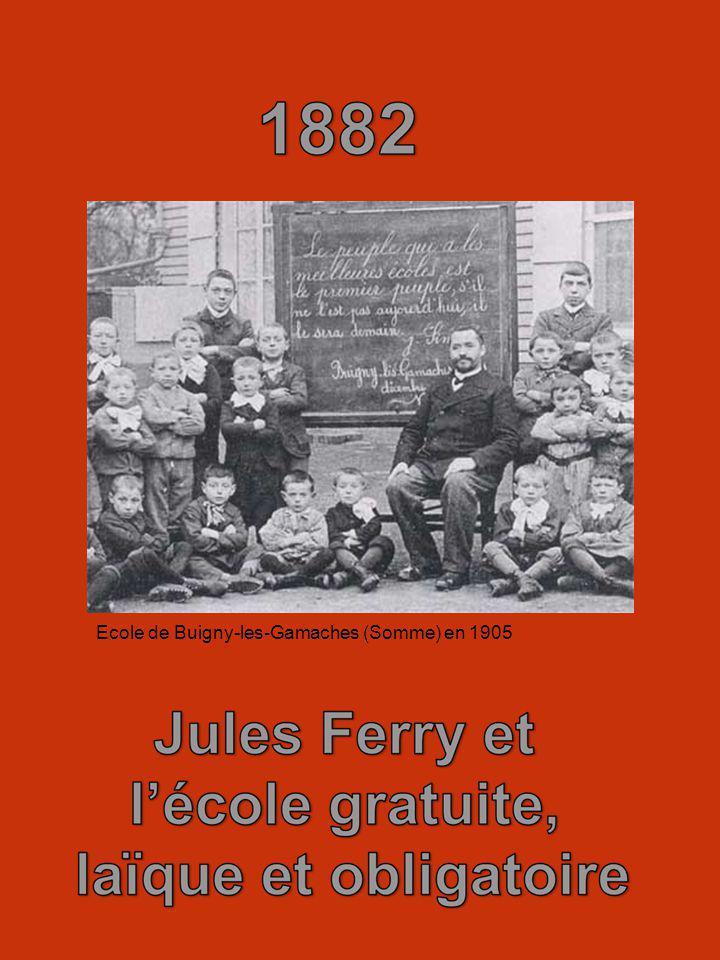 Ecole de Buigny-les-Gamaches (Somme) en 1905