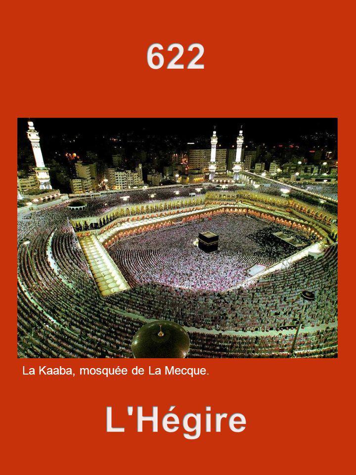 La Kaaba, mosquée de La Mecque.
