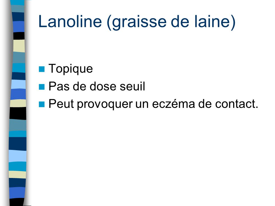 Lanoline (graisse de laine)