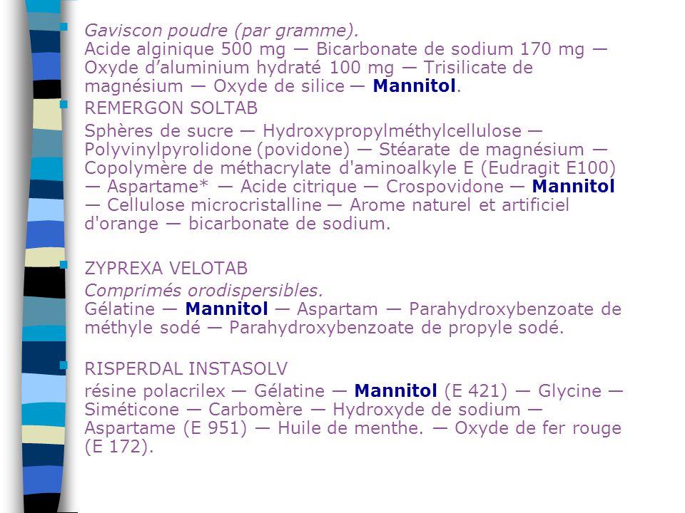 Gaviscon poudre (par gramme)