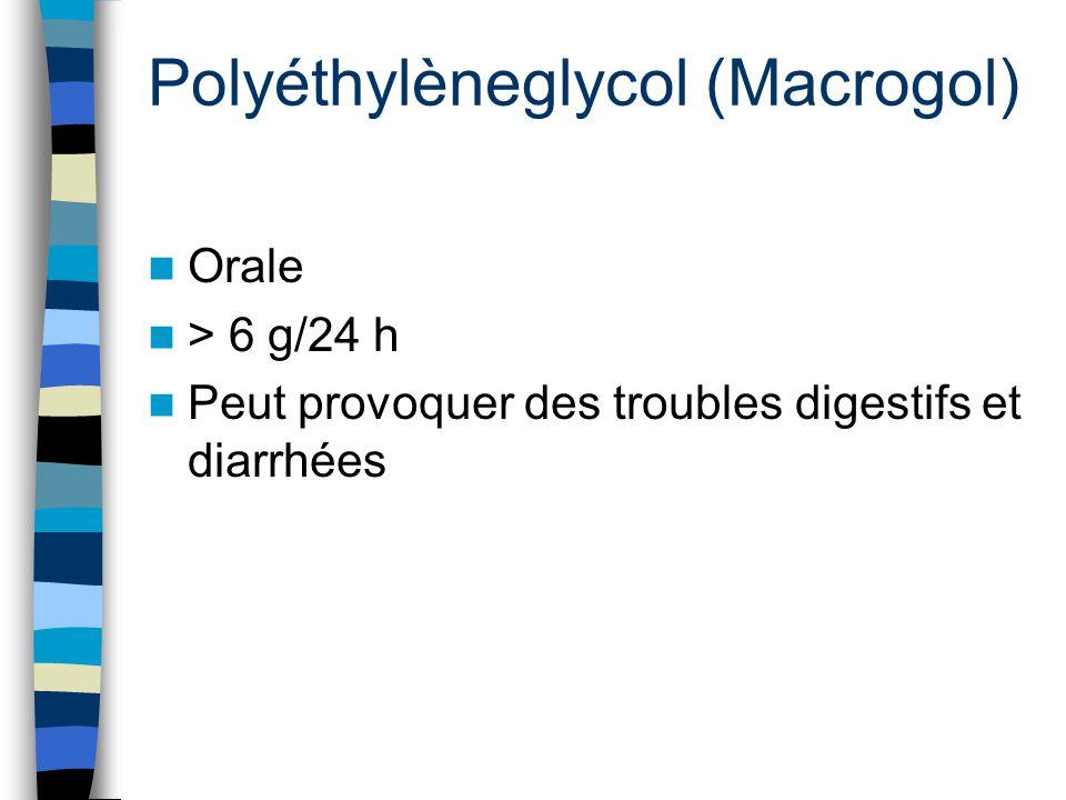 Polyéthylèneglycol (Macrogol)