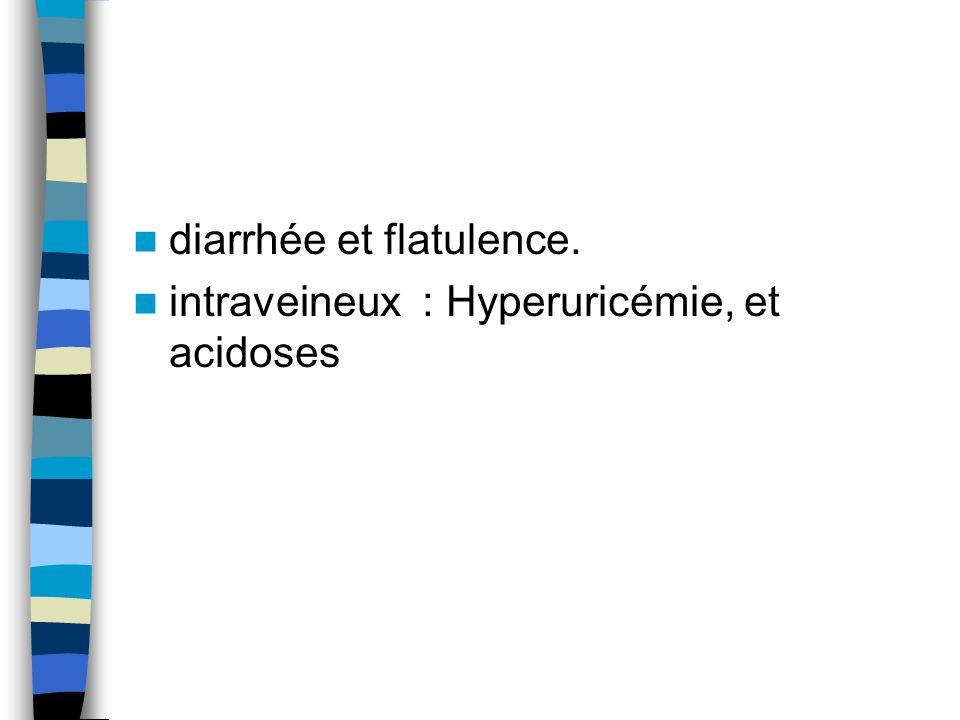 diarrhée et flatulence.