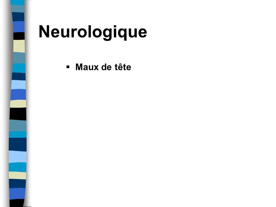 Neurologique Maux de tête