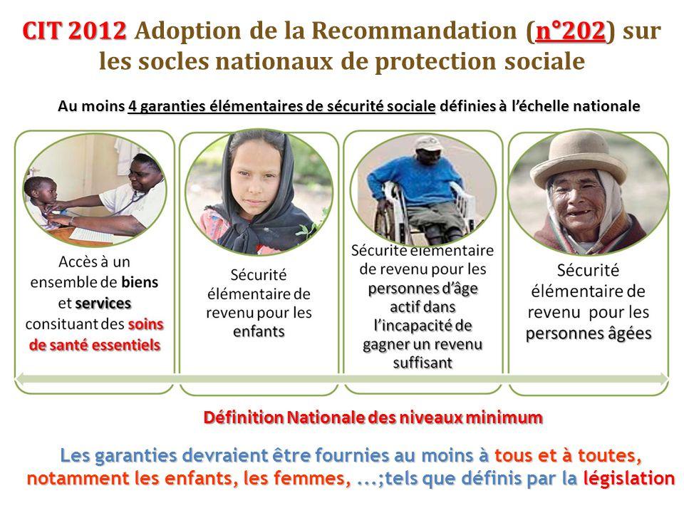 CIT 2012 Adoption de la Recommandation (n°202) sur les socles nationaux de protection sociale