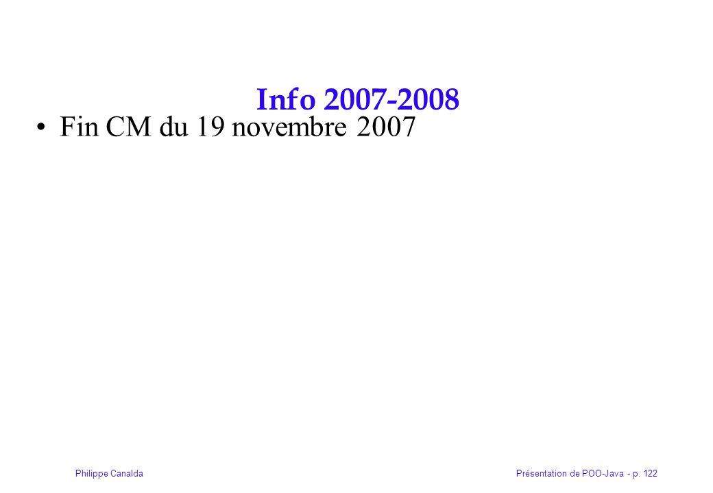 Info 2007-2008 Fin CM du 19 novembre 2007