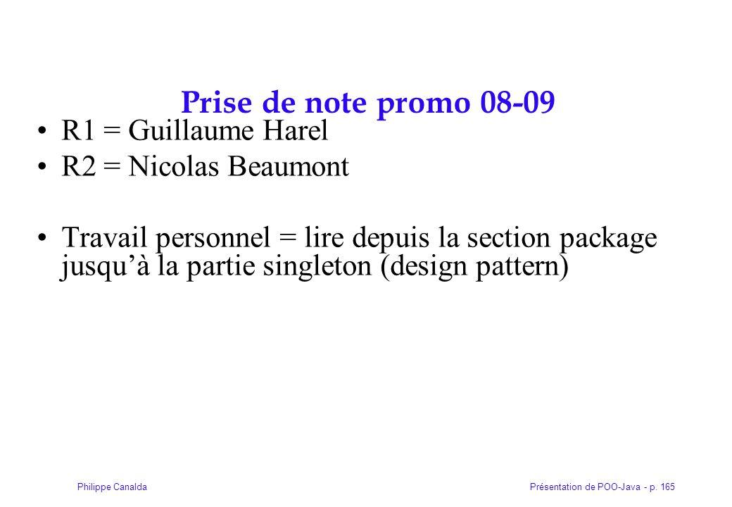 Prise de note promo 08-09 R1 = Guillaume Harel R2 = Nicolas Beaumont