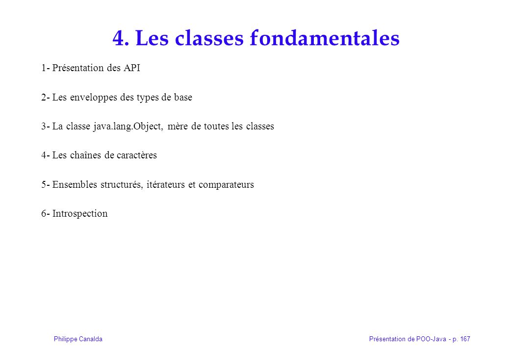 4. Les classes fondamentales