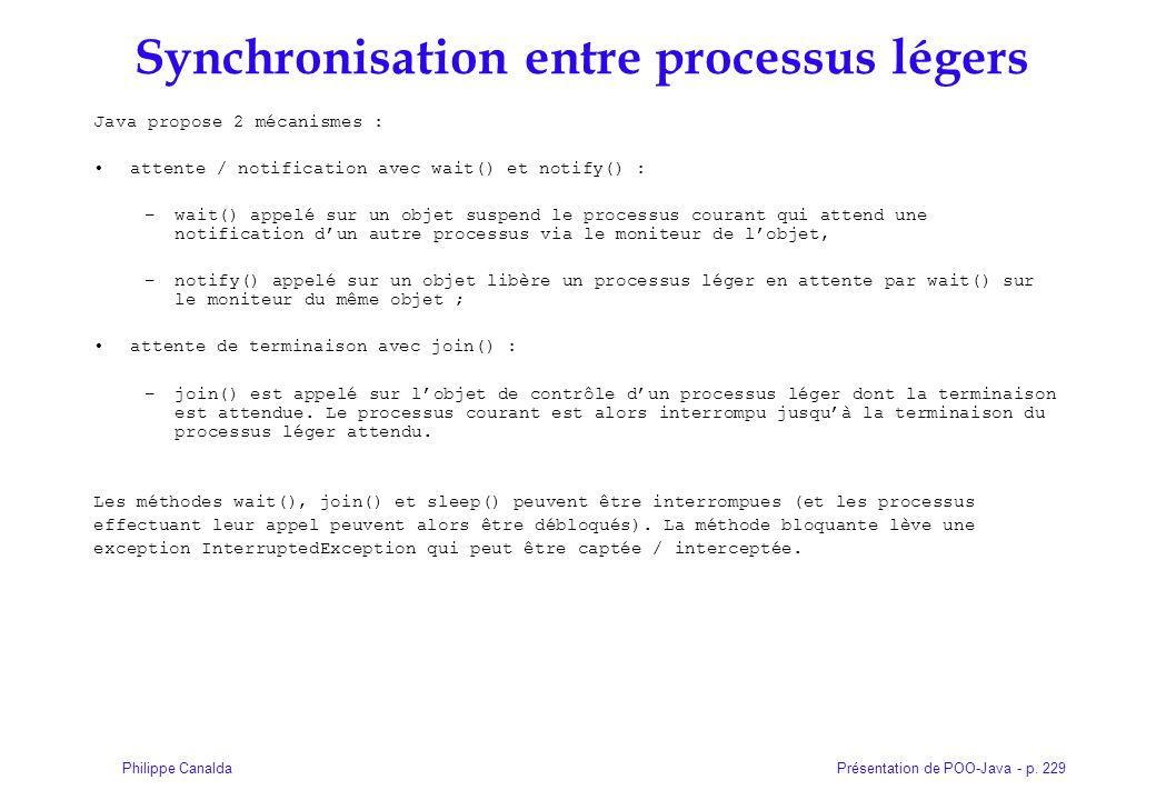 Synchronisation entre processus légers