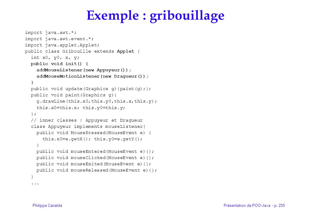 Exemple : gribouillage