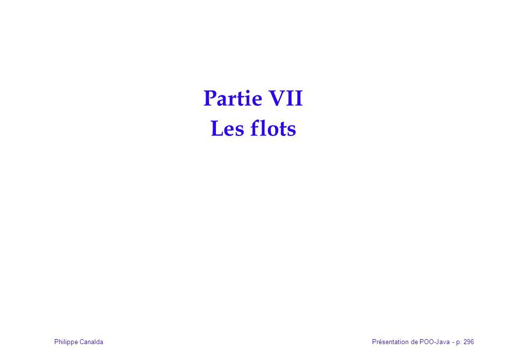 Partie VII Les flots