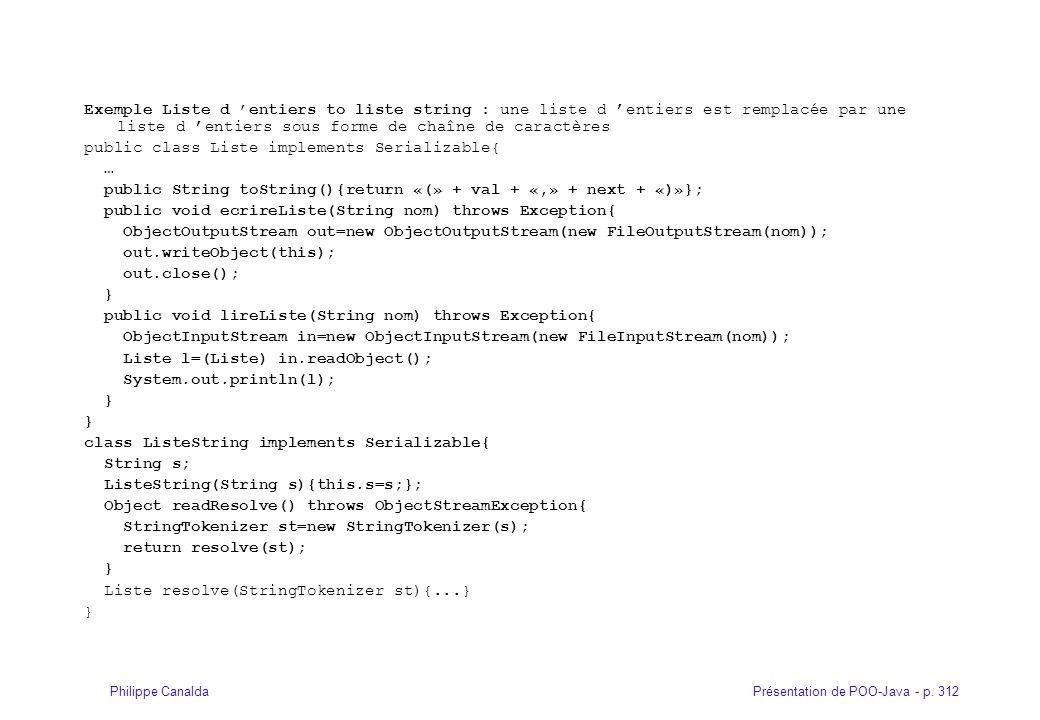 Exemple Liste d 'entiers to liste string : une liste d 'entiers est remplacée par une liste d 'entiers sous forme de chaîne de caractères