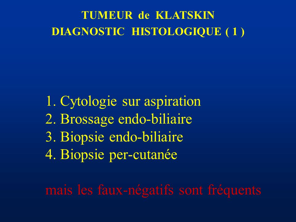 DIAGNOSTIC HISTOLOGIQUE ( 1 )