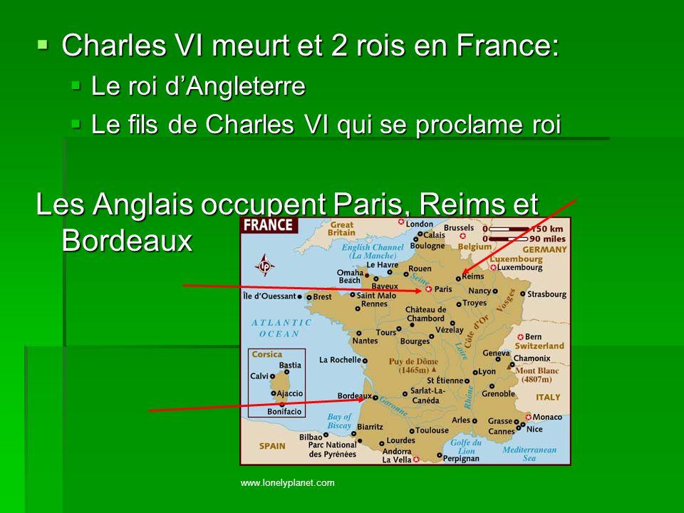 Charles VI meurt et 2 rois en France: