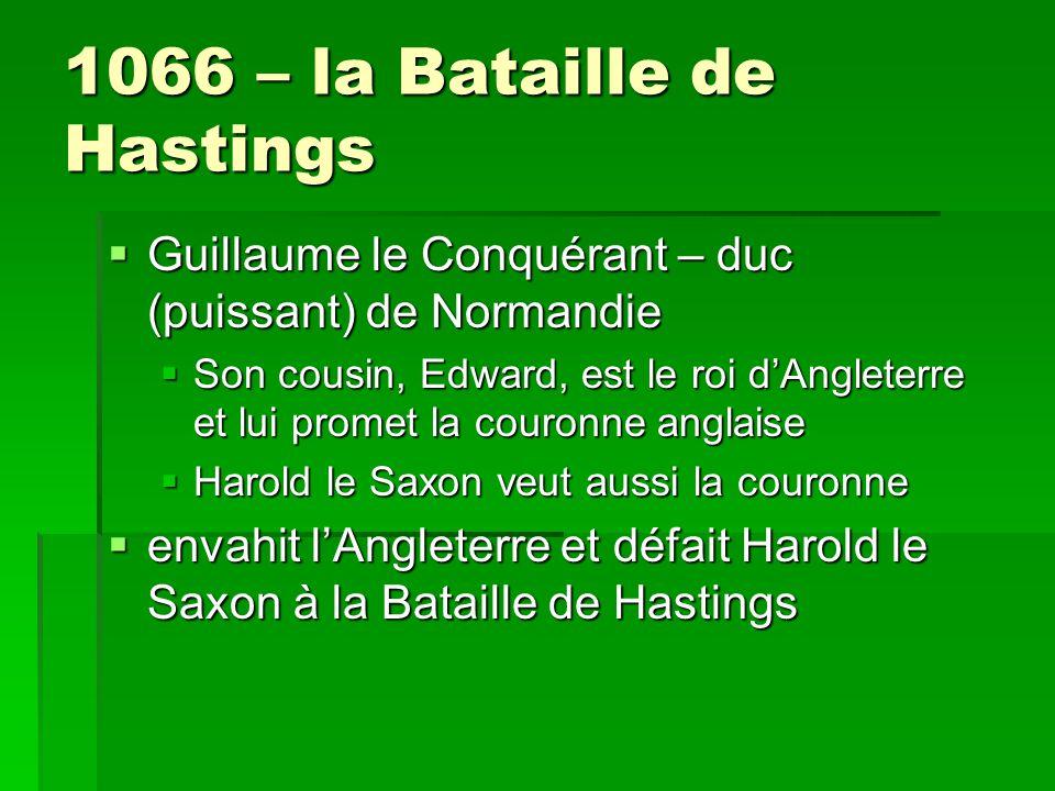 1066 – la Bataille de Hastings