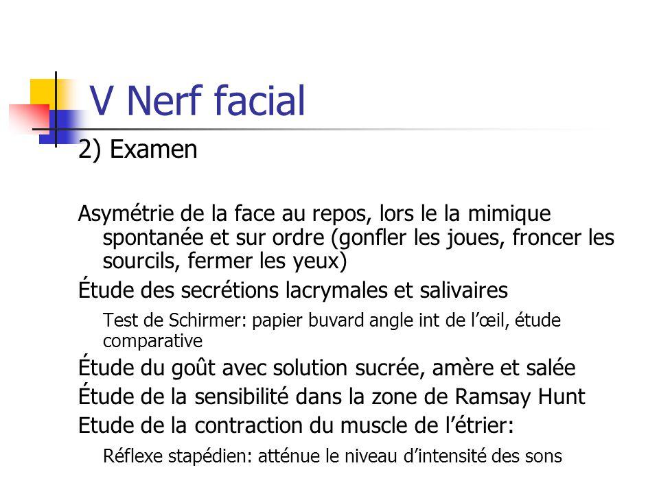 V Nerf facial 2) Examen.