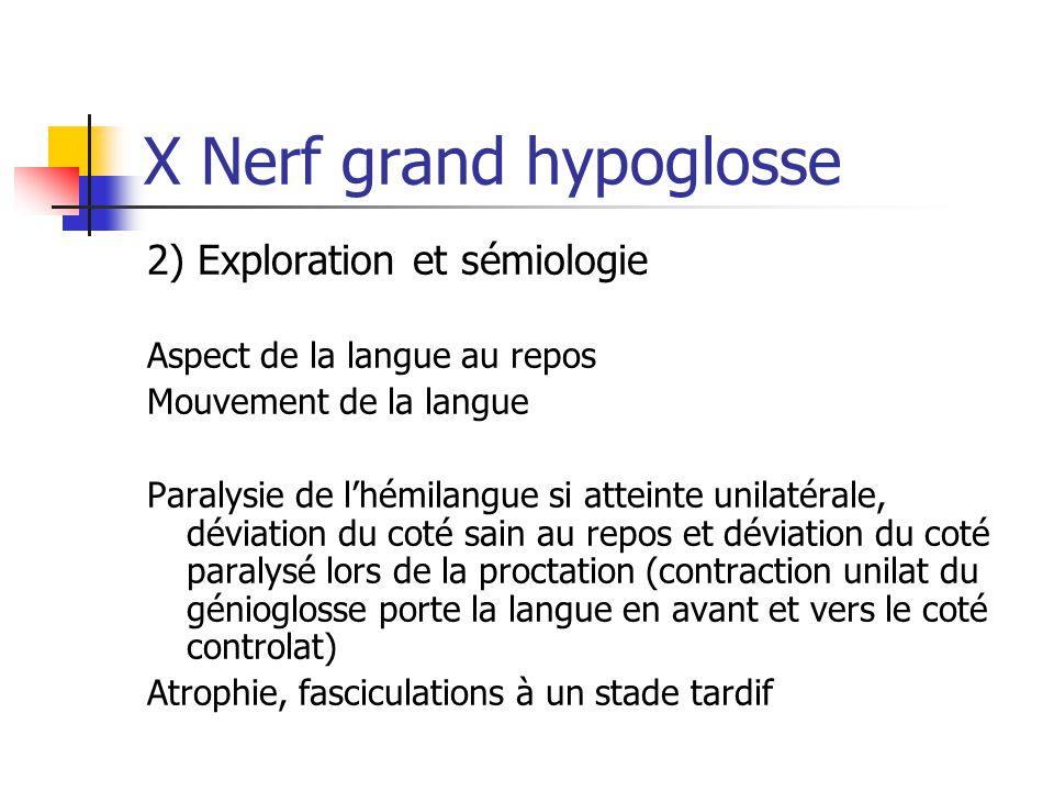 X Nerf grand hypoglosse