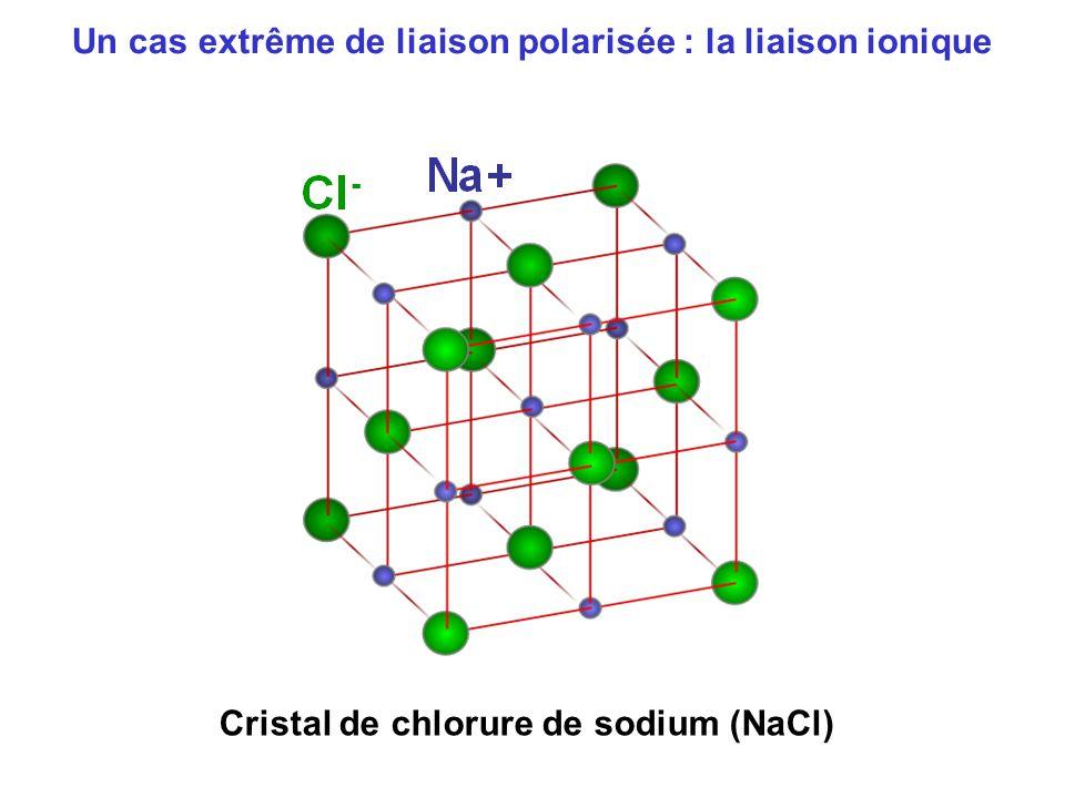 Un cas extrême de liaison polarisée : la liaison ionique