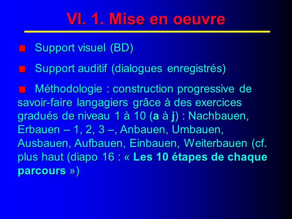 VI. 2. Mise en œuvre (suite)