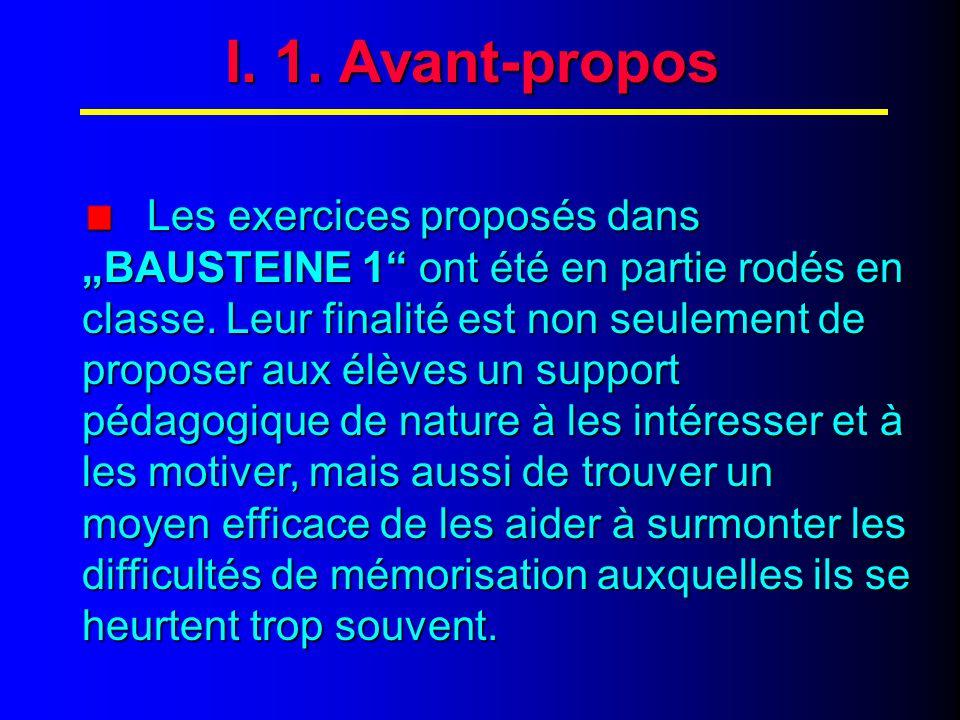 I. 2. Avant-propos (suite)