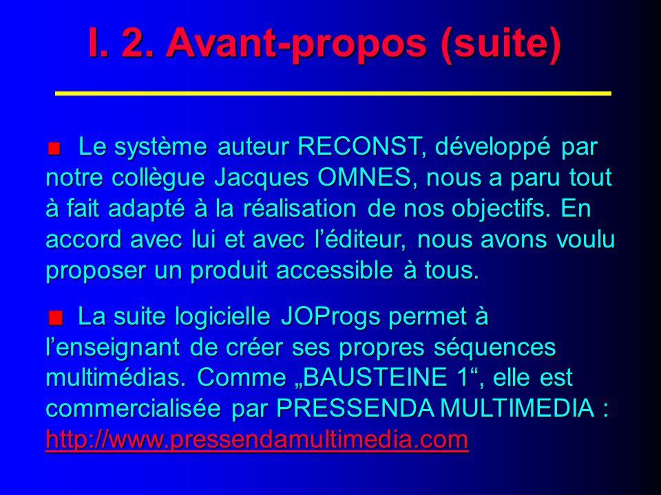 I. 3. Avant-propos (suite)