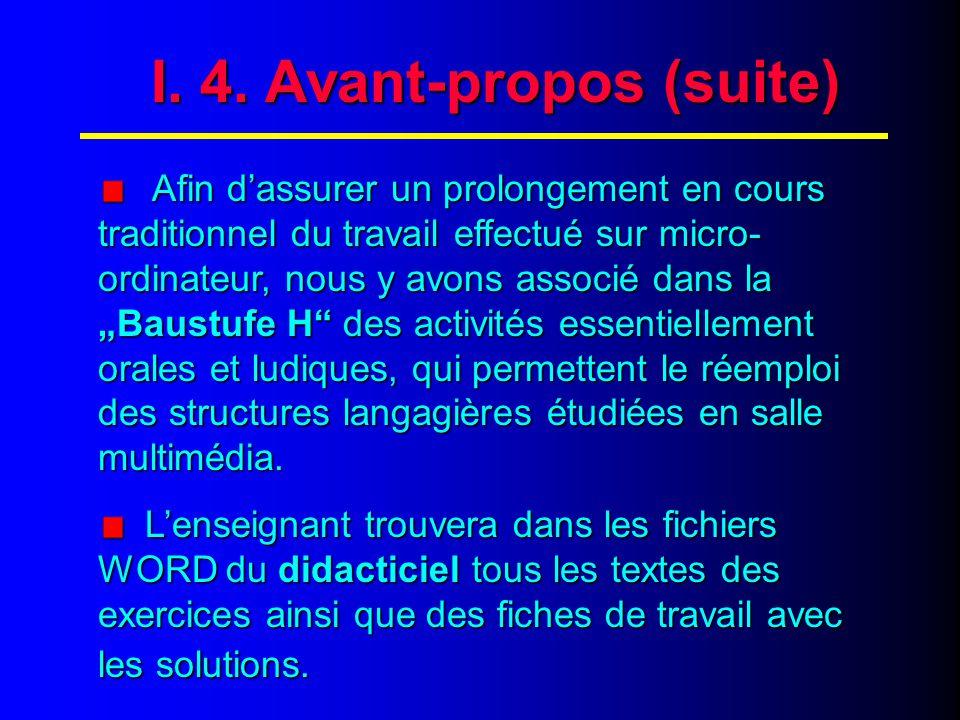 I. 5. Avant-propos (fin)